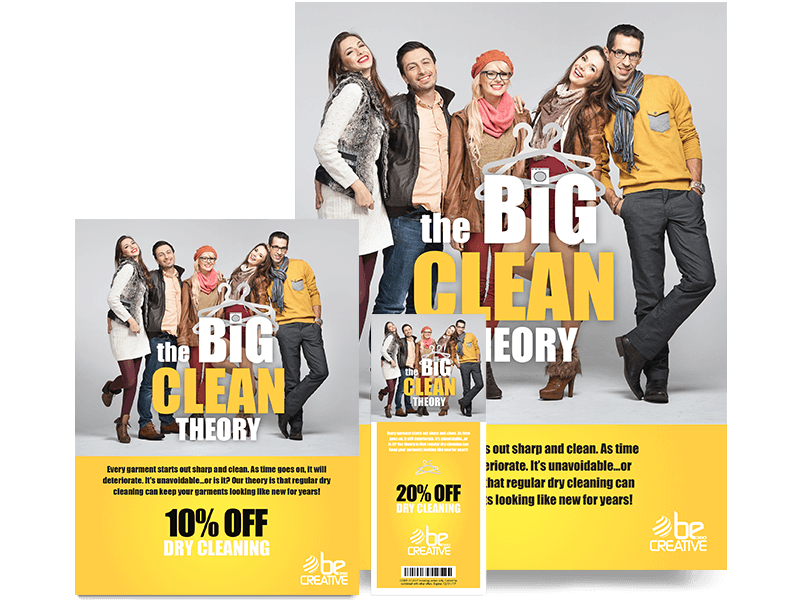 Dry cleaning Advertising Posters